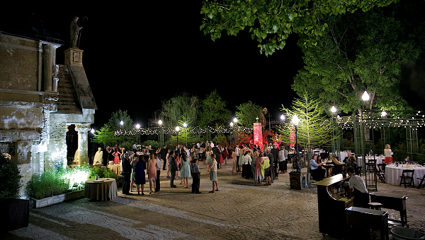 Evening Wedding Reception on Herzstein Plaza