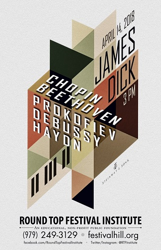 James Dick Solo Piano Concert Poster