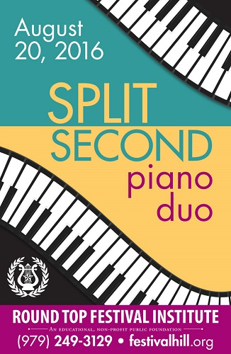 Split Second Piano Duo Returns to Festival Hill August 20