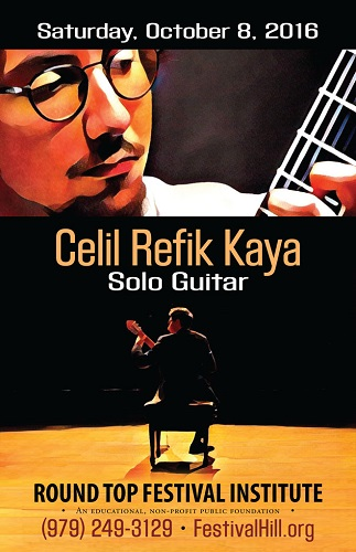 Celil Refik Kaya Returns to Festival Hill October 8