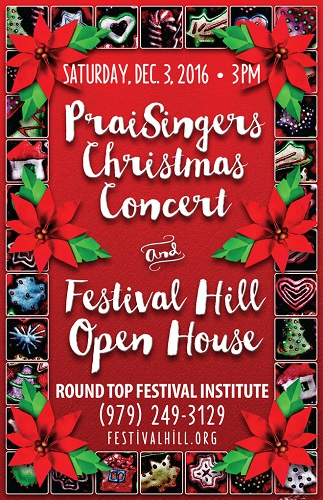PraiSingers Perform at Festival Hill December 3