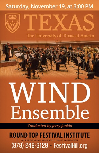UT Wind Ensemble Performs at Festival Hill November 19