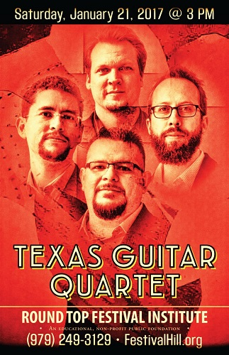 Texas Guitar Quartet to Performs at Festival Hill This Weekend