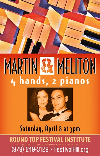 Martin and Meliton Piano Duo Comes to Festival Hill April 8