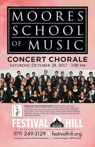 Moores School Concert Chorale October 28