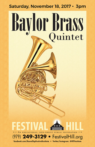 Baylor Brass Quintet Comes to Festival Hill This Saturday