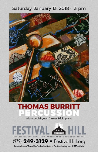Thomas Burritt, Marimba in Concert on January 13, 2018