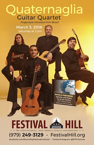 Quaternaglia Guitar Quartet Comes to Festival Hill March 3