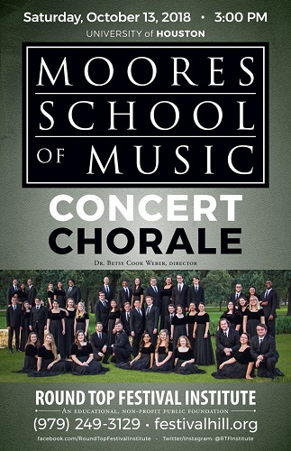 UH Moores School Concert Chorale Returns to Festival Hill October 13