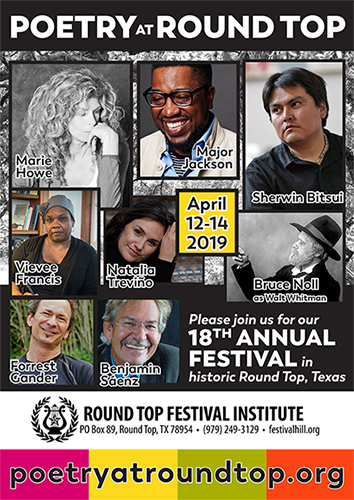 Register Now for Poetry at Round Top April 12-14