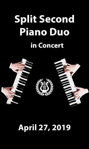 Split Second Piano Duo Returns to Festival Hill April 27
