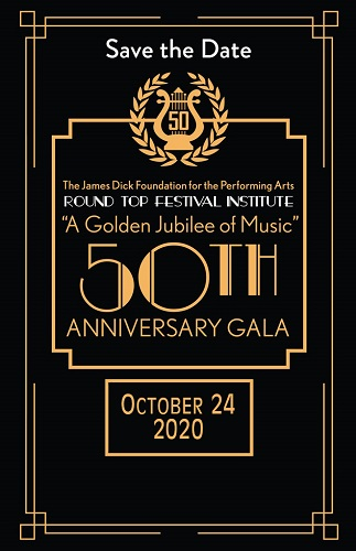 50th Anniversary Gala Rescheduled for October 24, 2020