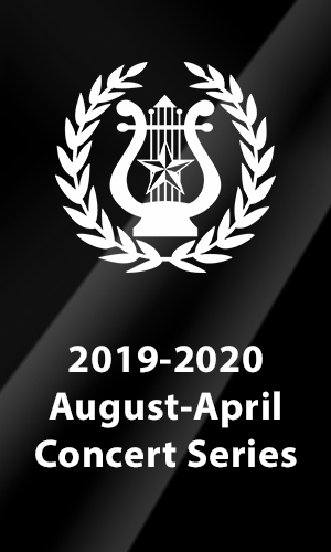 2019-2020 August-to-April Concert Series Closes March 14