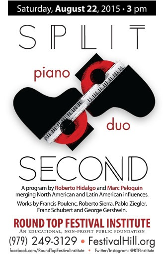 Split Second Piano Duo To Perform in Festival Concert Hall