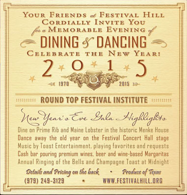 Ring in the New Year at Festival Hill