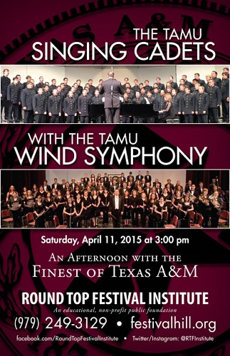 TAMU Wind Symphony and Singing Cadets Perform April 11