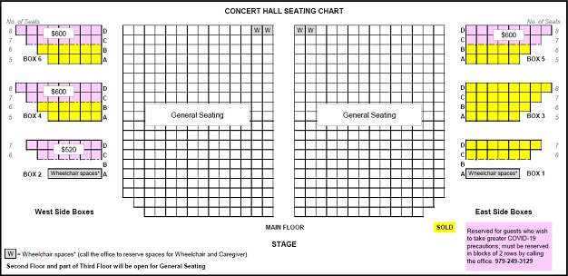 Concert Hall First Floor Seating Chart